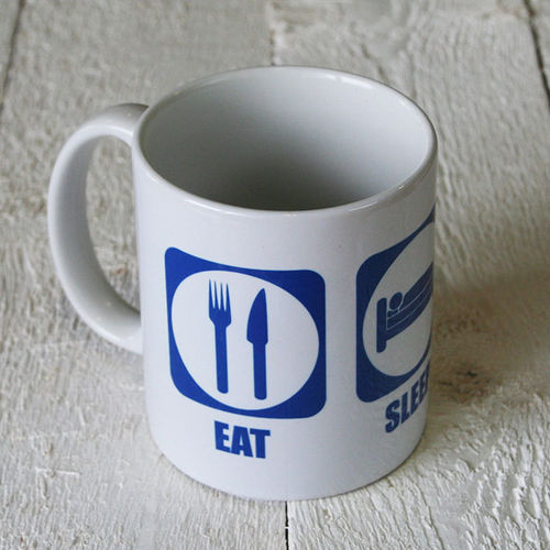 "Tasse - ""eat sleep fly"""