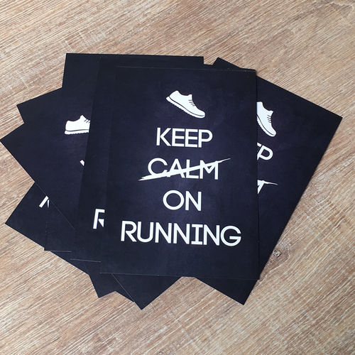 "Postkarte - ""Keep on Running"""