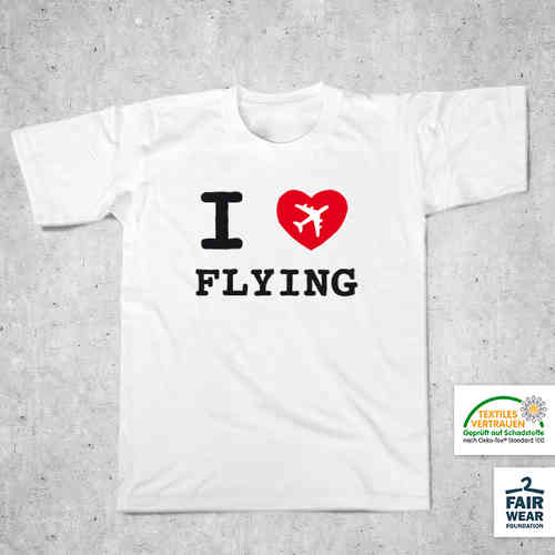 "Mottoshirt – ""I love flying"""